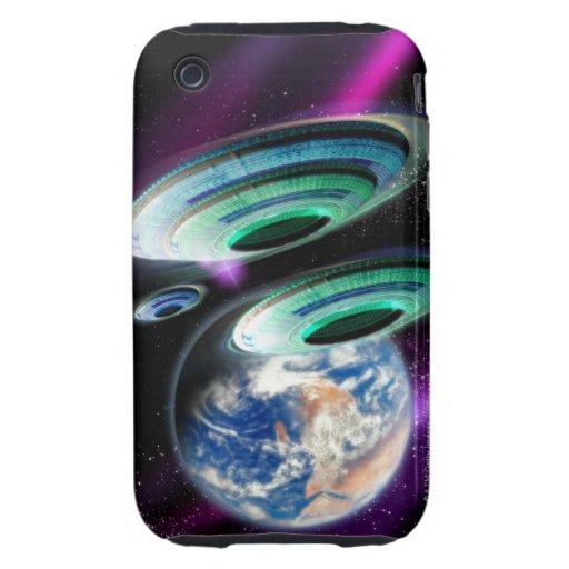 UFOs Tough iPhone 3 Fundas