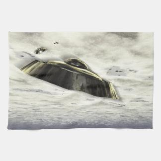 UFOs in Flight Hand Towel