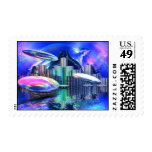 UFOS IN OZ STAMP