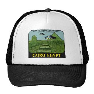 UFO'S OVER CAIRO EGYPT TRAVEL DESIGN TRUCKER HAT