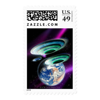 UFOs Postage Stamps