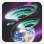UFOs Square Stickers