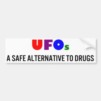 UFOs Una alternativa segura a las drogas Pegatina De Parachoque