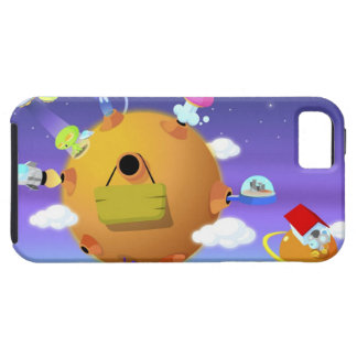 UFO's with planets in space iPhone 5 Cases