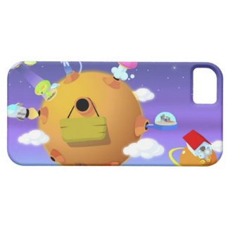 UFO's with planets in space iPhone SE/5/5s Case
