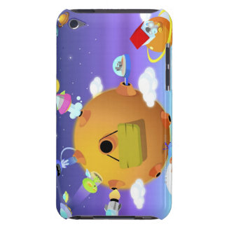UFO's with planets in space iPod Touch Case-Mate Case