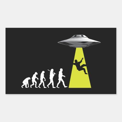 UFOvolution Rectangle Stickers