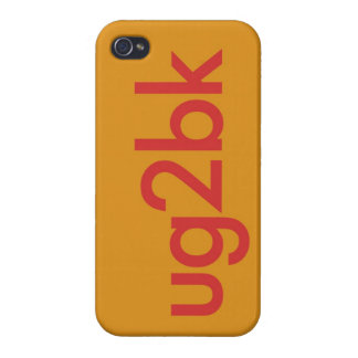 """""""UG2BK"""" CASES FOR iPhone 4"""