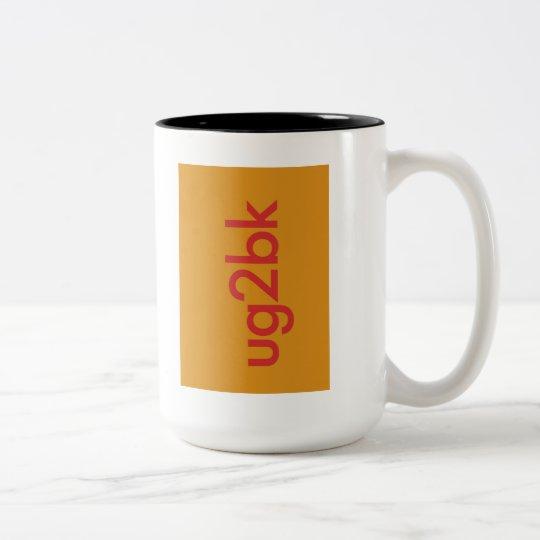 """""""UG2BK"""" Two-Tone COFFEE MUG"""
