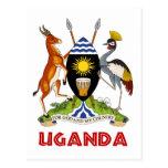 UGANDA - bandera/emblema/escudo de armas/símbolo Tarjeta Postal