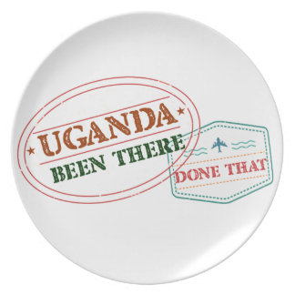 Uganda Been There Done That Plate