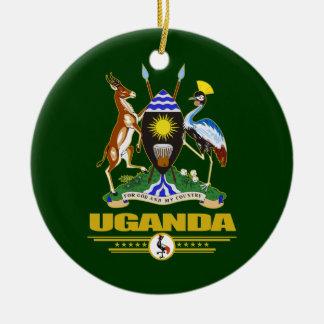 Uganda COA Double-Sided Ceramic Round Christmas Ornament