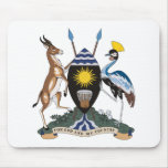 Uganda Coat of Arms Mousepad