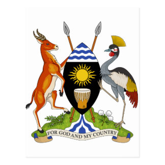 Uganda Coat of Arms Post Card