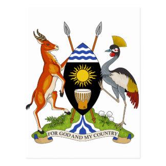 Uganda Coat of Arms Post Card