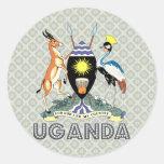 Uganda Coat of Arms Stickers