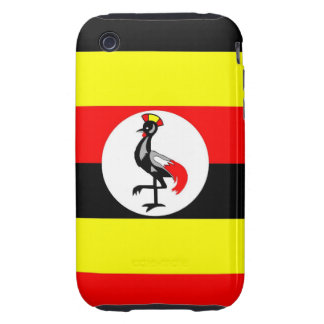 uganda country flag case iPhone 3 tough cases