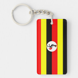 uganda country flag nation symbol keychain