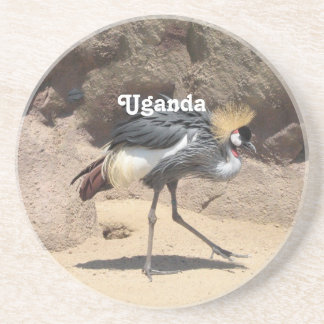 Uganda Crested Crane Drink Coaster