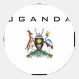 Uganda Customized Product Classic Round Sticker