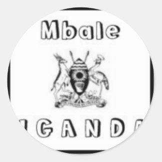Uganda Customized Products Classic Round Sticker