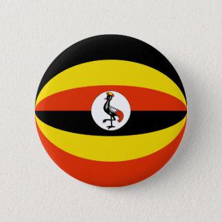 Uganda Fisheye Flag Button