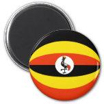 Uganda Fisheye Flag Magnet