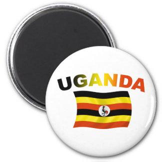Uganda Flag 2 2 Inch Round Magnet