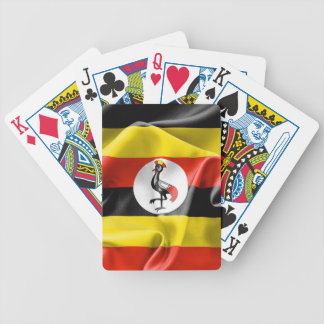 Uganda Flag Bicycle Playing Cards