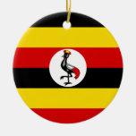 Uganda Flag Christmas Tree Ornament