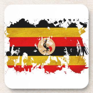 Uganda Flag Coaster