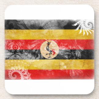 Uganda Flag Beverage Coasters