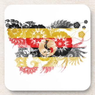 Uganda Flag Beverage Coaster