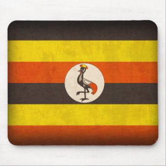Uganda Flag Distressed Mousepad