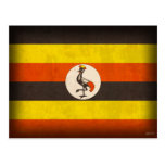 Uganda Flag Distressed Postcards
