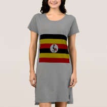 Uganda flag dress