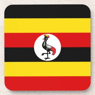 Uganda Flag Drink Coaster