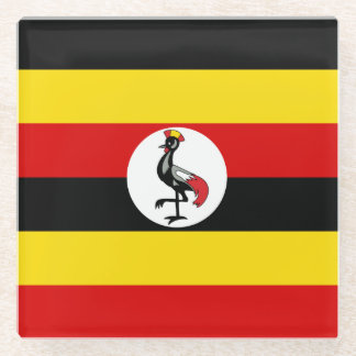 Uganda Flag Glass Coaster