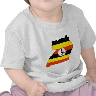 Uganda Flag Map full size T Shirt