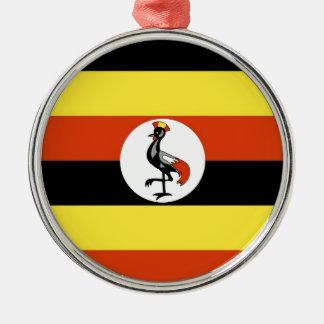 Uganda Flag Metal Ornament