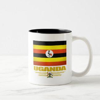 Uganda Flag Two-Tone Coffee Mug