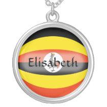 Uganda Flag   Name Necklace