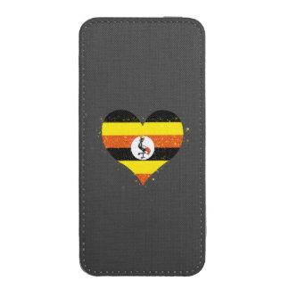 Uganda Flag Shining Beautiful iPhone 5 Pouch
