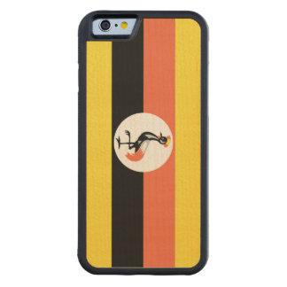 Uganda Flag Carved® Maple iPhone 6 Bumper