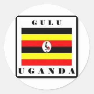 Uganda, Gulu Customized Products Classic Round Sticker