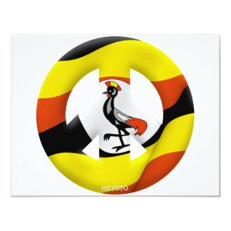 Uganda 4.25x5.5 Paper Invitation Card