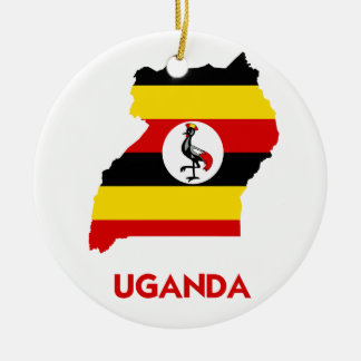 UGANDA MAP CERAMIC ORNAMENT