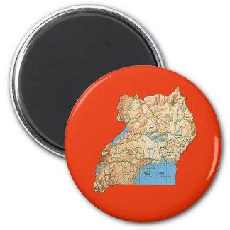 Uganda Map Magnet
