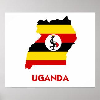 UGANDA MAP POSTER