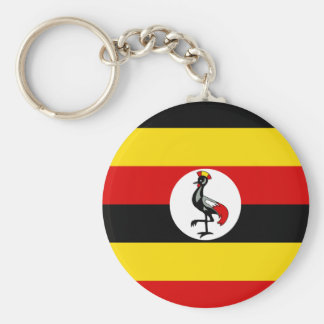 Uganda National World Flag Keychain